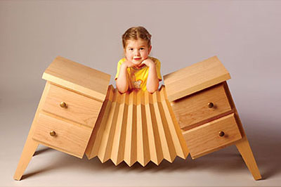 Posh Tots Accordion Dresser