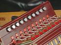 Cajun accordion keyboard