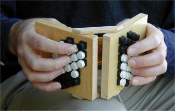 A MIDI controller shaped like a Hayden Duet Concertina