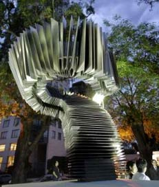 Bandoneon Monument in Buenos Aires