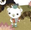 Captain Barnacles Bear playing accordion