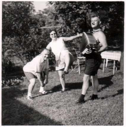 Backyard Accordion Party
