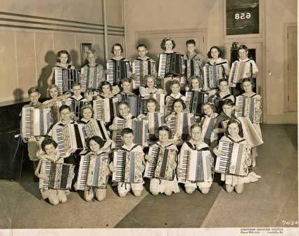 1930s era kids accordion band